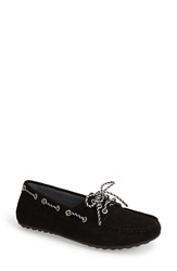 David Tate 'Talia' Nubuck Diving Loafer Women Black