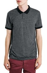 Topman Slim Fit Knit Polo Grey Multi