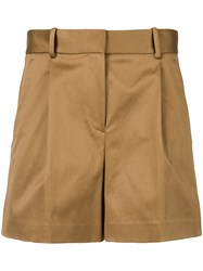 Theory High Waisted Shorts Nude And Neutrals