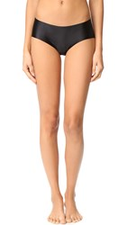 Commando Luxe Satin Bikini Panties Black