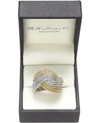 Effy Collection Duo By Effy Diamond Multi Row Wrap Ring 1 1 3 Ct. T.W. In 14K White And Yellow Gold Yellow With White Gold