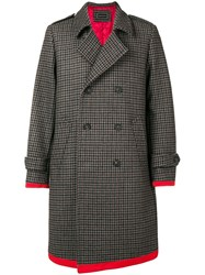 Tommy Hilfiger Midi Buttoned Coat Grey
