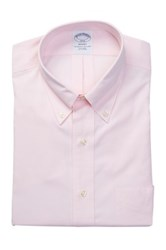 Brooks Brothers Collared Long Sleeve Regent Classic Fit Shirt Pink