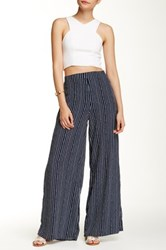 Romeo And Juliet Couture Stripe Wide Leg Pant Blue