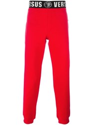 Versus Printed Waist Track Pants Red