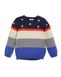 Mayoral Stars Dots And Stripes Sweater Size 12 36 Months Multi
