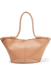 The Row Market Small Leather Tote Sand
