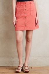 Anthropologie Pilcro Chino Skirt Red 2 Skirts