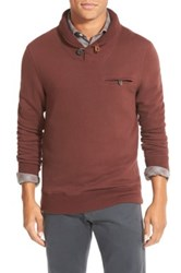 Billy Reid Shiloh Shawl Collar Pullover Red