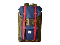 Herschel Little America Mid Volume Woodland Camo Navy Red Rubber Backpack Bags Blue