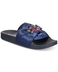 Kenneth Cole Reaction Pool Jewel Flat Sandals Navy Multi