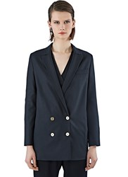 Pre Ss16 Agnona Double Breasted Blazer Jacket Black