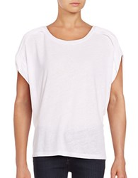 Lord And Taylor Pleated Dolman Sleeve Top White