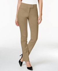 Styleandco. Style And Co. Slim Leg Tummy Control Pants Warm Taupe