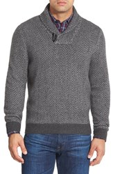 Men's Big And Tall John W. Nordstrom Shawl Collar Cashmere Sweater Grey Charcoal Heather