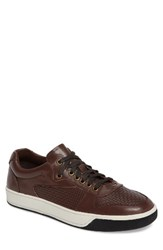 English Laundry Men's Slam Embossed Sneaker Brown Leather