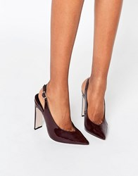 Asos Piccadilly Pointed Heels Oxblood Red