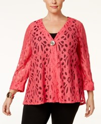 Jm Collection Plus Size Lace Jacket Only At Macy's Perfect Rose