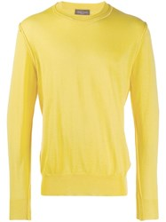 Roberto Collina Inside Out Knitted Sweater Yellow