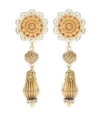 Dolce And Gabbana Clip On Earrings Gold