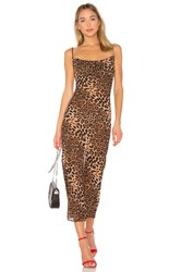 By The Way. Donna Draped Maxi Dress Brown