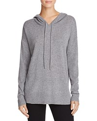 Bloomingdale's C By Cashmere Sweater Hoodie Slate
