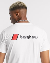 Berghaus Heritage Front And Back Logo T Shirt In White