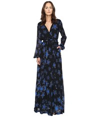 Just Cavalli Military Stars Print Long Sleeve Maxi Dress Black Women's Dress