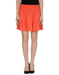 Mauro Grifoni Mini Skirts Orange