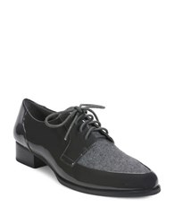 Tahari Leeza Patent Leather Oxfords Charcoal Grey
