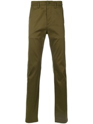 Saint Laurent Fitted Trousers Green