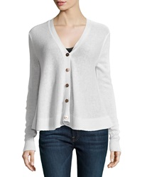 Minnie Rose Cashmere Swing Cardigan White