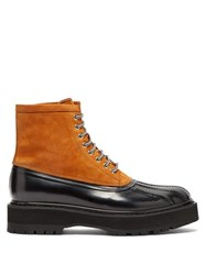 Givenchy Camden Nubuck And Patent Leather Boots Black Beige