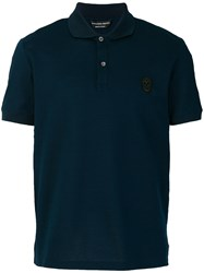Alexander Mcqueen Skull Polo Shirt Cotton Blue