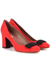 Tabitha Simmons Violet Suede Pumps Red