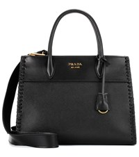Prada Paradigme Saffiano Leather Handbag Black