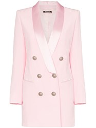 Balmain Double Breasted Blazer Dress Pink