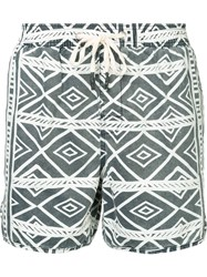 The Upside Drawstring Printed Beach Blue
