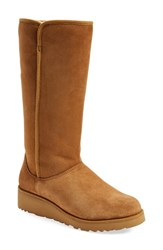 Women's Ugg Australia 'Kara Classic Slim' Water Resistant Tall Boot Chestnut Suede