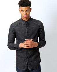 G Star G Star Revend Clean Print Shirt Long Sleeve Black Shatter Black