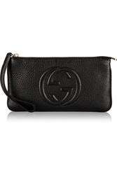 Gucci Soho Textured Leather Wristlet Pouch