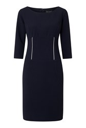 James Lakeland Zip Detail Dress Blue