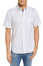 Jack Spade Men's Stripe Short Sleeve Sport Shirt