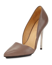 L.A.M.B. Trina Leather D'orsday Pump Taupe