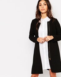 Traffic People Silhouette A Line Coat Black