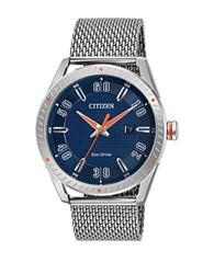 Citizen Round Stationary Bezel Analog Watch Silver