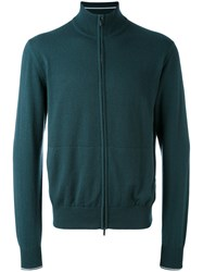 Loro Piana Golf Bomber Cardigan Men Cashmere 54 Green