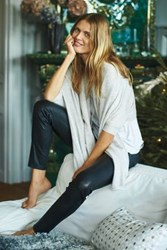 Anthropologie Shawled Cashmere Wrap Grey