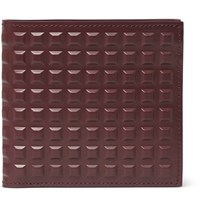 Balenciaga Studded Leather Billfold Wallet Burgundy