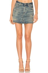 Citizens Of Humanity Cut Off Mini Skirt Blue